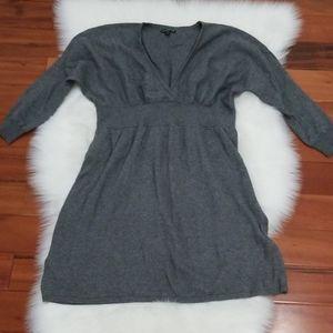 Express Sweater Dress, Gray, Small